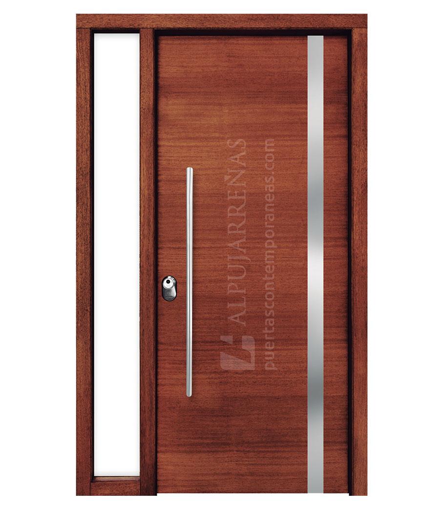 Puerta exterior multicapa modelo 2140 maderas ravira for Puertas de tambor modernas