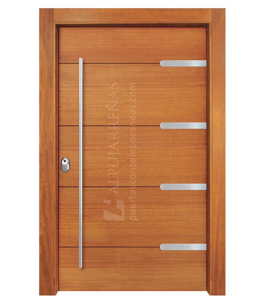 Puerta exterior multicapa pivotante modelo 2150 maderas for Modelo de puertas de madera exteriores