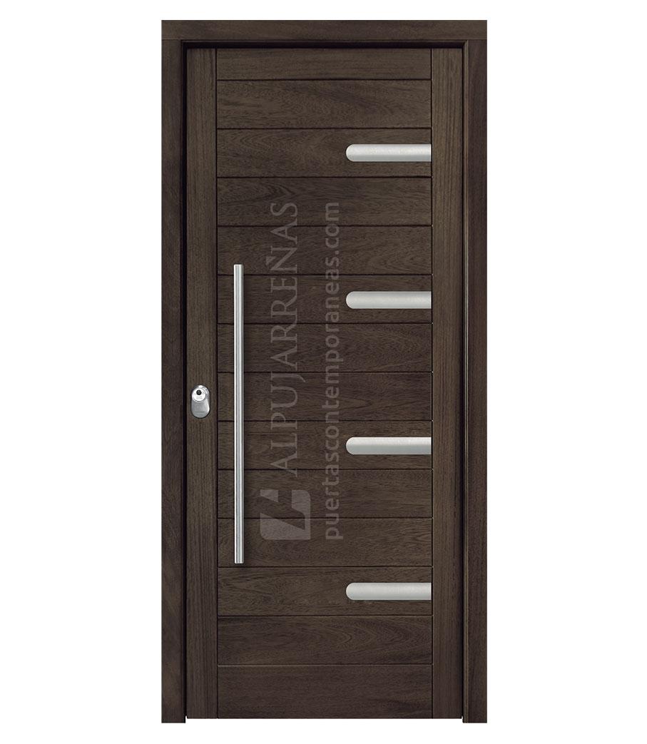 Puerta exterior madera modelo 3010 maderas ravira - Tableros de madera para exterior ...