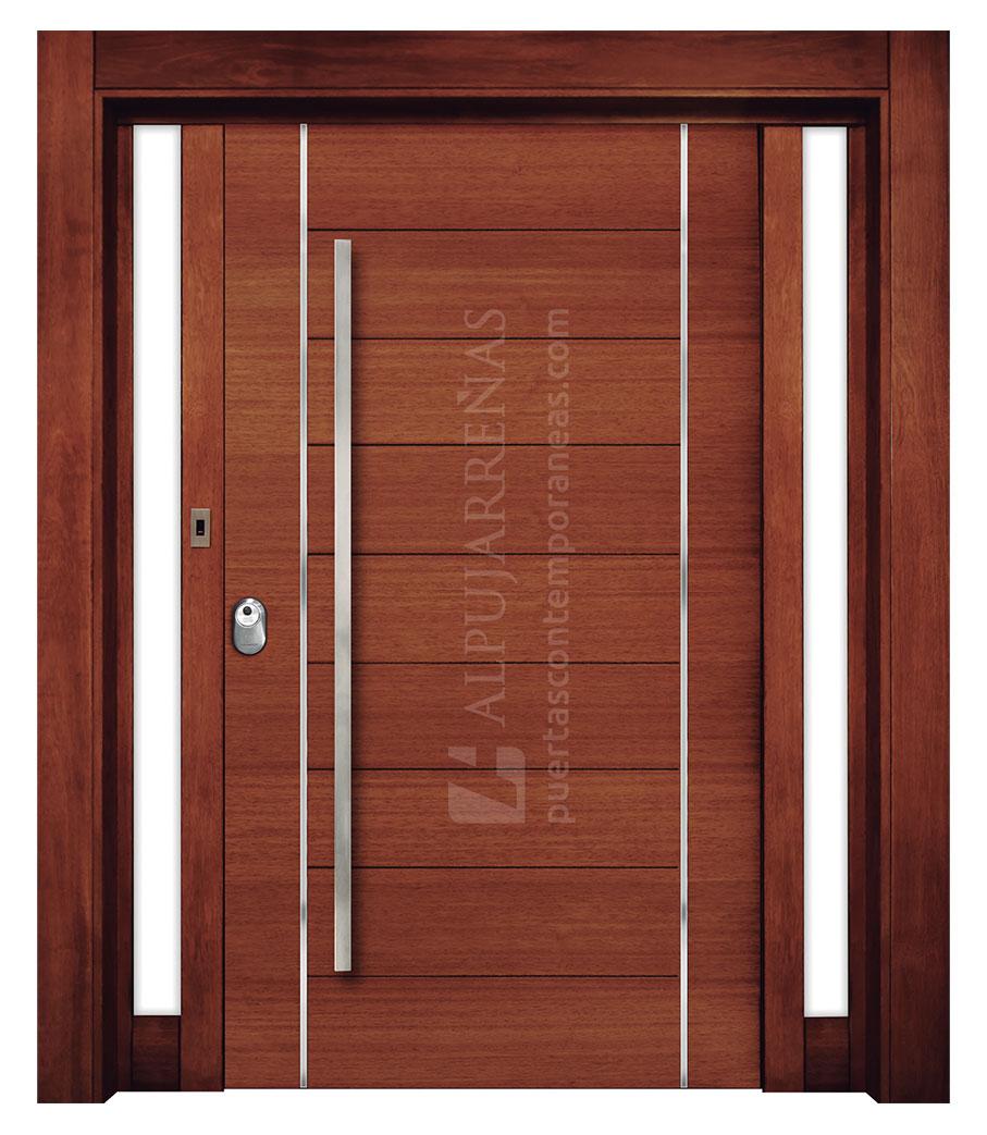 Puerta exterior multicapa modelo 2080 maderas ravira for Modelos de puertas de madera para exteriores