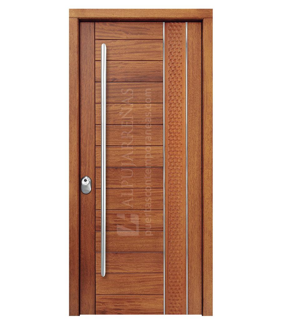 Puerta exterior multicapa modelo 2170 maderas ravira for Descripcion de puertas de madera
